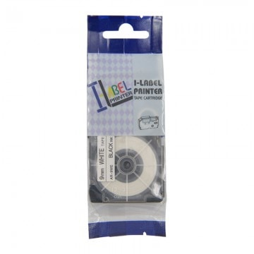 AR6WE COMPATIBLE Label Tape for Casio 6mm Black on White